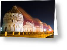 Ghosts Of Piazza Del Duomo Greeting Card by Andrew Lalchan