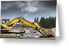 Giant Bulldozers In Action Greeting Card