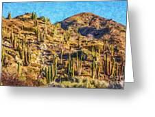 Giant Cordon Cactus Greeting Card