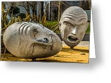 Giant Heads Greeting Card