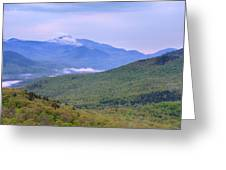 Giant Mountain From Owls Head Greeting Card
