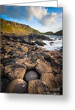 Giant's Causeway Circle Of Stones Greeting Card