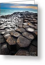 Giant's Causeway Hexagons Greeting Card