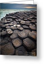 Giant's Causeway Pillars Greeting Card
