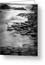 Giant's Causeway Waves  Greeting Card