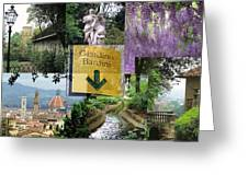 Giardino Bardini Greeting Card