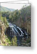 Gibbon River And Falls Greeting Card