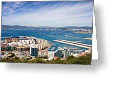 Gibraltar City And Bay Greeting Card