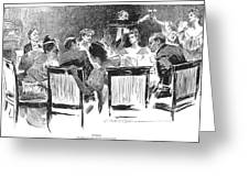 Gibson: Dinner Party, 1894 Greeting Card