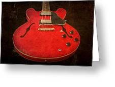 Gibson Es-335 Electric Guitar Body Greeting Card