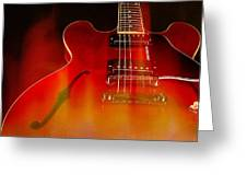 Gibson Es-335 On Fire Greeting Card