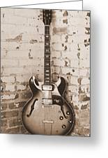 Gibson In Sepia Greeting Card