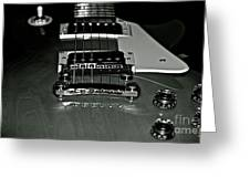 Black And White Les Paul Greeting Card