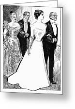 Gibson: The Debutante, 1899 Greeting Card