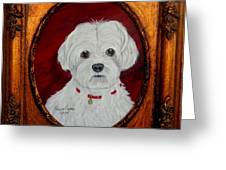 Gidget.my Maltese Greeting Card