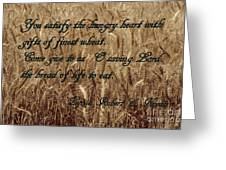 Gift Of Finest Wheat Greeting Card