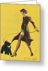 Gil Elvgren's Pin-up Girl Greeting Card