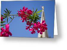 Gilbert Arizona Temple Spire Greeting Card