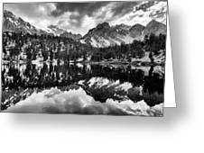 Gilbert Lake And University Peak Greeting Card