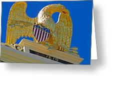 Gilded Eagle Greeting Card