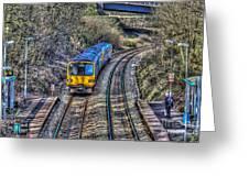 Gilfach Fargoed Railway Station Greeting Card