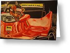 Gilles Villeneuve At Monaco 1980 Greeting Card