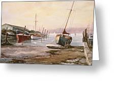 Gillingham Pier On The Medway Greeting Card
