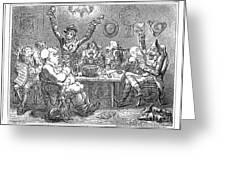 Gillray: Tavern, 1801 Greeting Card