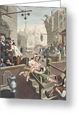 Gin Lane, Illustration From Hogarth Greeting Card
