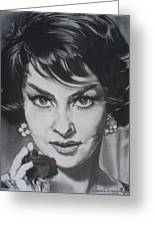 Gina Lollobrigida Greeting Card