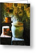 Ginger Jar And Buckets Greeting Card