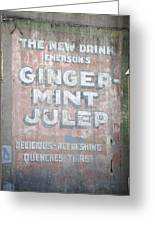Ginger-mint Julep Greeting Card