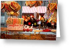 Gingerbread And Candies Greeting Card