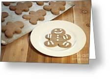 Gingerbread Cookies Greeting Card by Juli Scalzi