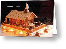 Gingerbread House, Traditional Greeting Card