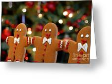 Gingerbread Men In A Line Greeting Card