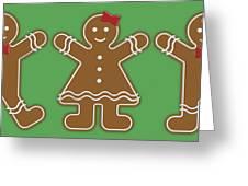 Gingerbread People Greeting Card