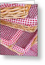 Gingham Baskets Greeting Card