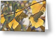 Ginkgo Gold Greeting Card
