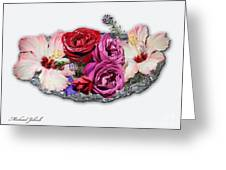 Ginnies Summer Flower Arrangement Greeting Card