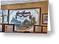 Giordanos Pizza Chicago Greeting Card