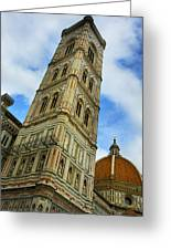 Giotto Campanile Tower In Florence Italy Greeting Card