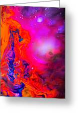 Giraffe In The Universe - Abstract Painting Greeting Card