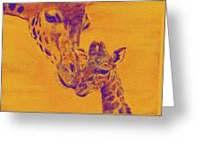 Giraffe Love Greeting Card by Jane Schnetlage