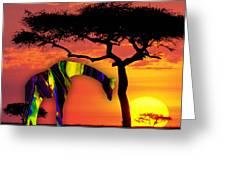 Giraffe Painting Greeting Card