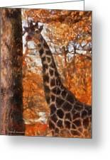 Giraffe Photo Art 03 Greeting Card