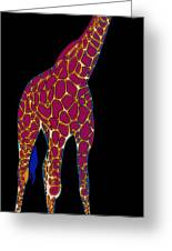 Giraffe Pop Art Greeting Card