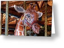 Giraffe Ride Greeting Card