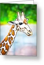 Giraffe Scrimshaw Greeting Card