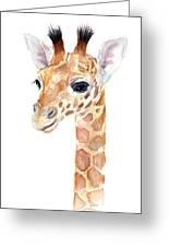 Giraffe Watercolor Greeting Card